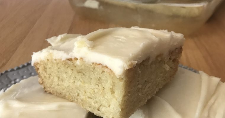 Vegan White Texas Sheet Cake